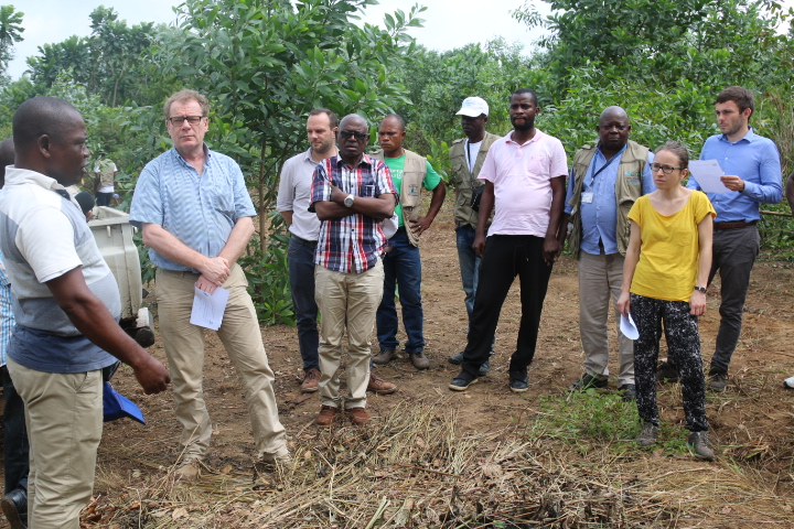 The World Bank team while on the mid-term evaluation mission in DRC of IFP's PGPAFv. Photo/IFP